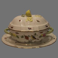 Vintage Herend Rothchild Bird Tureen and Platter - 1978