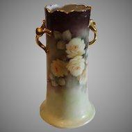 American Painted Porcelain Vase 1940s