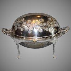 Silverplate English Breakfast Warmer late 1800s