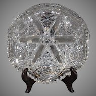 Antique American Brilliant Cut Crystal Bowl 1890-1910