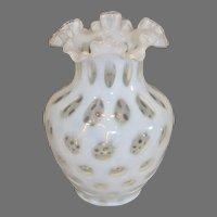 Coin Dot Vase with Cased Glass 1900