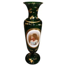 Moser Portrait Vase - late 1800s