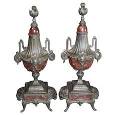 Marble Ormolu Mantel Urns