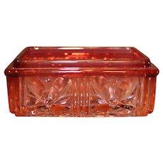 Baccarat Rose Tiente Crystal Dresser Box