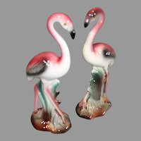 California Pottery Flamingos - Hand Painted