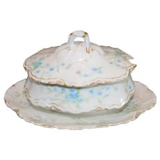Limoges Sauce Bowl with Lid 1888