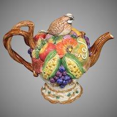 Fitz and Floyd 1997 Porcelain Tea Pot