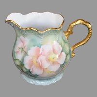 Vintage US Painted Limoges - Pink Floral