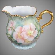 Vintage US Painted Limoges - Pink Floral