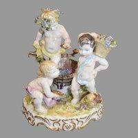 Bavarian Porcelain Figural Wine Makers - 1920s