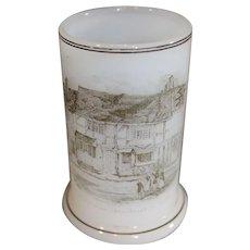 Antique Richardson Vitrified Sir Walter Raleigh/Shakespeare Tumbler 1850