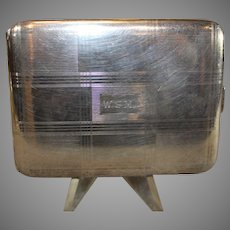 Sterling Silver Art Deco Style Calling Card Case
