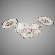 Vintage Dresden Porcelain Trays (3)