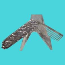 Sterling Silver Mustach Comb
