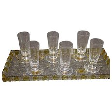 6 Sevres Shot Glasses - 1980s - MINT