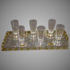 6 Sevres Shot Glasses - 1980s - MINT