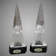 Art Deco Czechoslovakian Crystal Spires - made by Weil