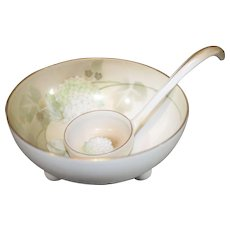 RS Germany 1914-45 Porcelain Bowl with Spoon