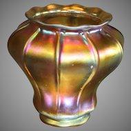 Art Glass Quezal Globes - Iridescent Gold