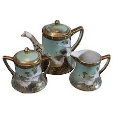 Nippon Porcelain Tea Pot, Sugar and Creamer
