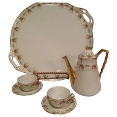 B andH Company Limoges Tea Service dating 1890s