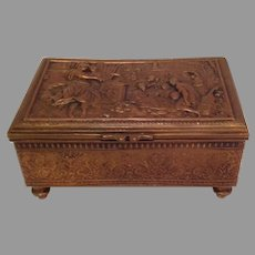 Jennings Brothers Metal Greek Relief Covered Box