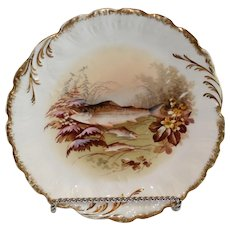 Limoges MR Hand Painted Fish Plate 1891