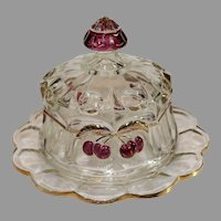 Northwood Covered Butter-Cherry Pattern - late 1800s