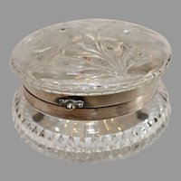 Pairpoint Brilliant Cut Butterfly Covered Box with sterling Rim - 1890s