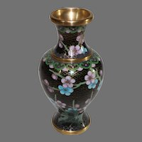 Small Chinese Cloisonne Vase - Vintage 1950s