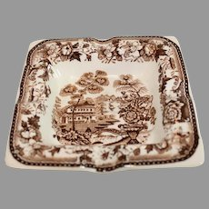 Clariss Cliff Brown Tonquin Ashtray - Vintage - 1940s