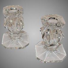 American Gorham Crystal Candlesticks - 1980