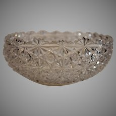 American Brilliant Cut Crystat Bowl - Daisy and Button - 1890s