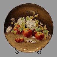 Vintage Italian Ceramics Charger - Hand Painted Fruit Scene -by Reggiori