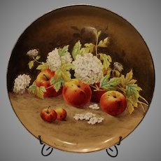 Vintage Italian Ceramics Charger - Hand Painted Fruit Scene -by Reggiori