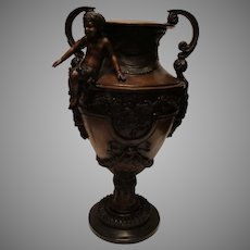 Pair of Cast Bronze Urns Napolean II Style - c. late 1800s