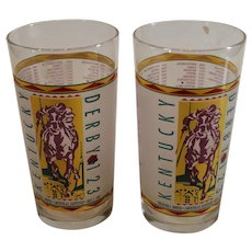 123rd Kentucky Derby 1997 - Mint Julep Glass - Pair