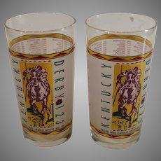 123rd Kentucky Derby 1997 - Mint Julep Glass - Pair