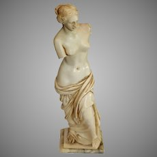 Vintage Resin Venus Miniature Statue on Marble Base