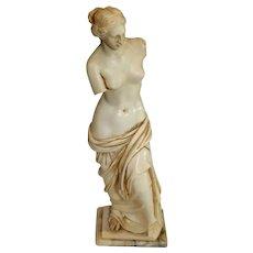 Vintage Resin Venus Miniature Statue on Marble Base