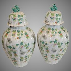 Pair of Andrea Ginger Jars - circa 1980s - Sadek made in Japan