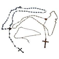 Catholic Rosaries - Children's - 1930s