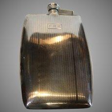 International Sterling Flask Circa 1920s - 859 Silver - 3/4 Pint