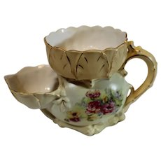 Art Nouveau Austrian Pottery Shaving Mug - late 1800s