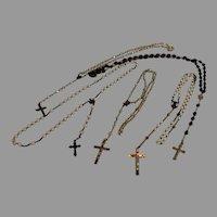 ROSARY - Set of 5 Vintage Catholic Rosaries - 1930s