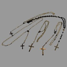 ROSARY - Set of 5 Vintage Catholic Rosaries - 1930s