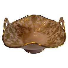 Cambridge Rosepoint Crown Tuscan with Gold Crusting - after 1940 -Crimped 6 inch Bowl