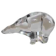 Vintage Baccarat Crystal Polar Bear - 1980s