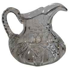 H. G. Sinclair American Brillian Cut Glass Water Pitcher - after 1904
