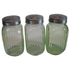 4 Vintage Green Shakers